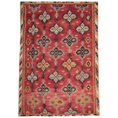 Antique Rugs, Turkish Kilim Rug, Sarkisla Handmade Carpet Rug