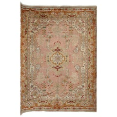 Antique Rugs, Turkish Rugs, Rust Oushak Carpets