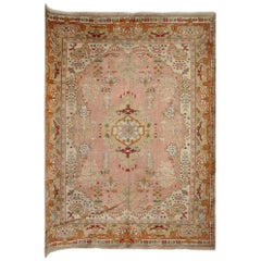 Antique Rugs, Turkish Rugs, Rust Oushak Carpets, Rust Living Room Rugs