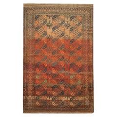 Antique Rugs Turkmen Ersari Handwoven Wool Area Rug