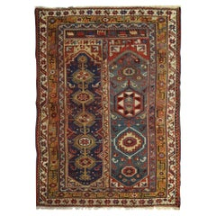 Antique Rugs Yellow Turkish Rug Handmade Carpet, Living Room Rug from Milas