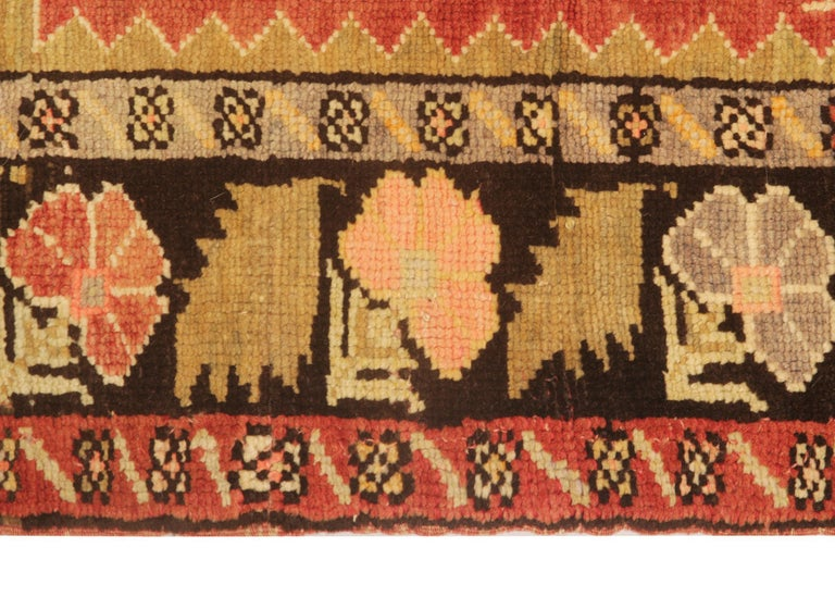 Oushak Antique Rugs Yellow Turkish Rug Carpet, Living Room Rug Home Decor from Milas For Sale