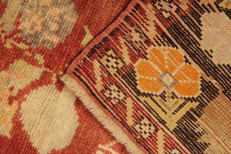 Mid-20th Century Antique Rugs Yellow Turkish Rug Carpet, Living Room Rug Home Decor from Milas For Sale