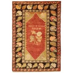 Antique Rugs Yellow Turkish Rug Handmade Carpet, Oriental Rug Living Room Rugs