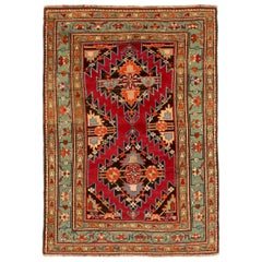 Antique Russian Area Rug Gharebagh Design