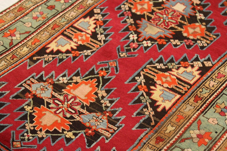 Other Antique Russian Area Rug Gharebagh Design For Sale