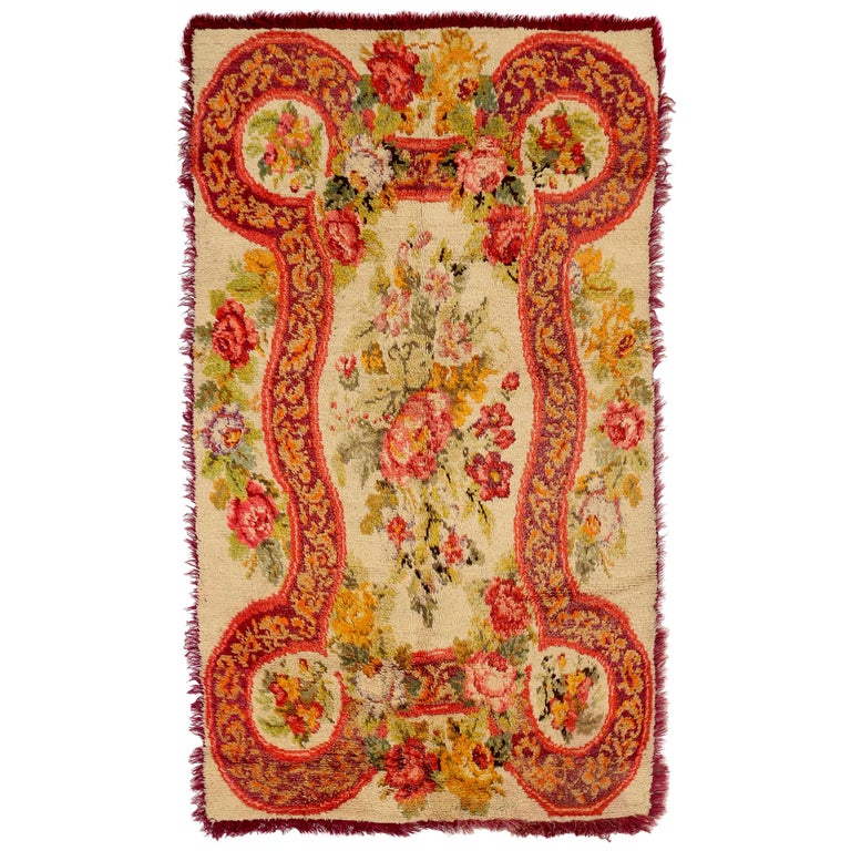 Antique Russian Area Rug Karebagh Design For Sale