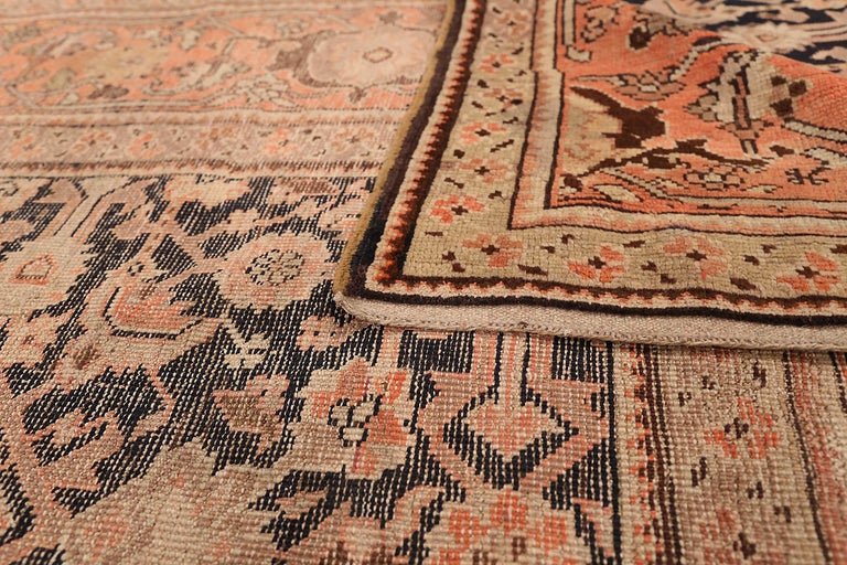 Hand-Woven Antique Russian Area Rug Karebagh Design For Sale