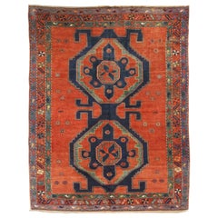 Antique Russian Area Rug Kazak Design