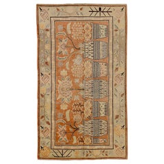 Antique Russian Area Rug Khotan Design