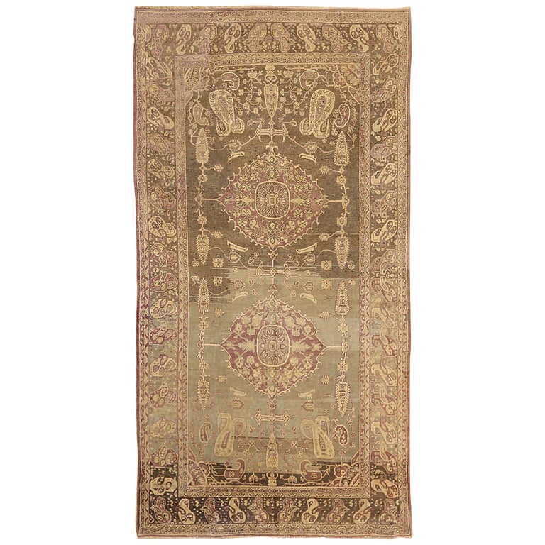 Antique Russian Area Rug Khotan Design For Sale