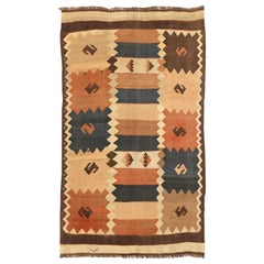 Antique Russian Area Rug Kilim Design