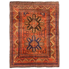 Antique Russian Area Rug Samarghand Design