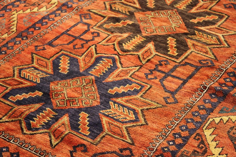 Other Antique Russian Area Rug Samarghand Design For Sale