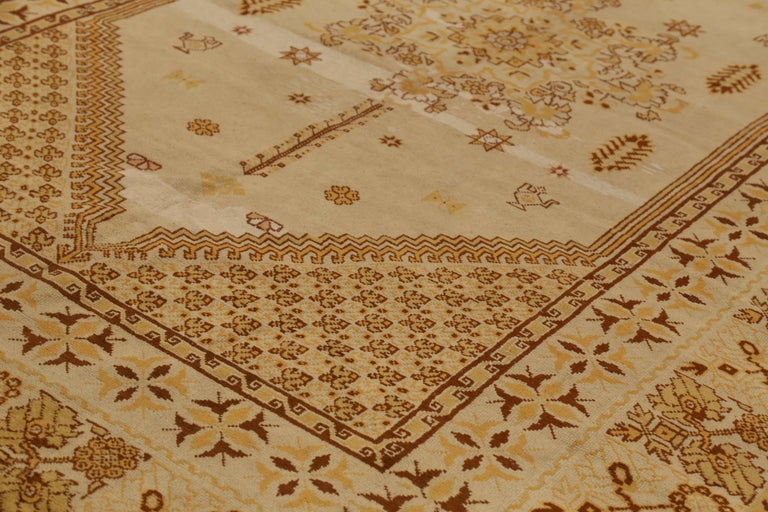 Other Antique Russian Area Rug Samarkand Design For Sale