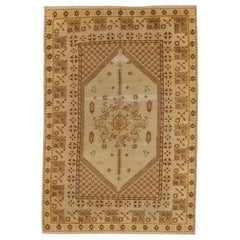 Antique Russian Area Rug Samarkand Design
