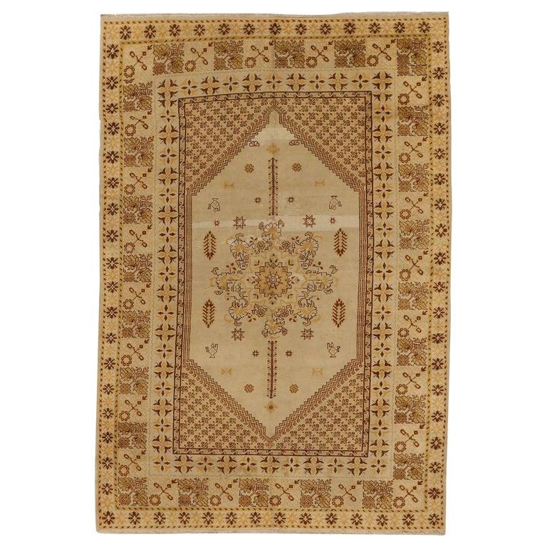 Antique Russian Area Rug Samarkand Design For Sale