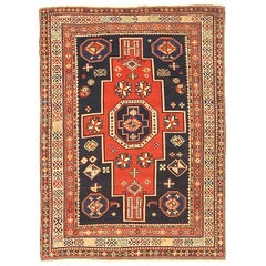 Antique Russian Area Rug Shirvan Design