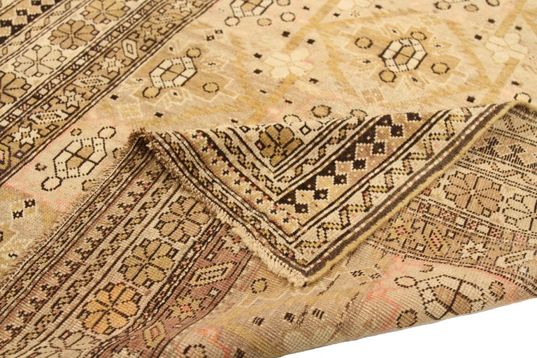 Hand-Woven Antique Russian Area Rug Shirvan Design For Sale