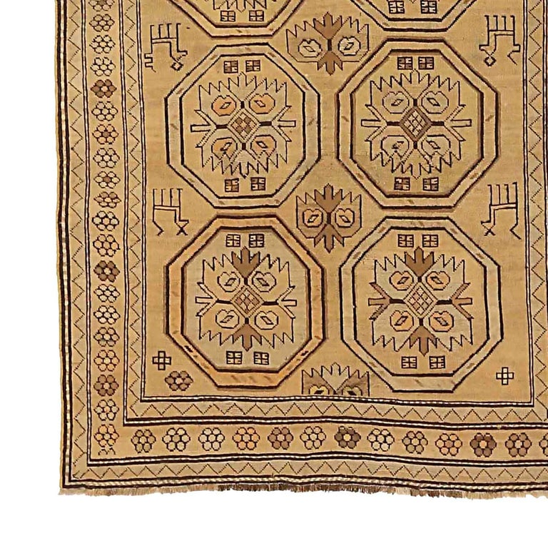 Other Antique Russian Area Rug Shirvan Design For Sale