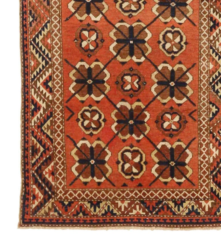 Other Antique Russian Area Rug Uzbak Design For Sale