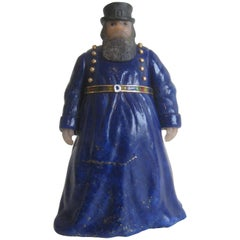 Russian Carved Coachman 18-Karat Gold Enamel Lapis Figure Manner of Fabergé
