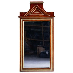 Antique Russian Empire Mahogany Brass Mirror, circa 1830