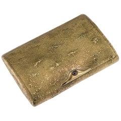 Antique Russian Faberge Gold Samorodok Cigarette Case, a Hollming, circa 1910