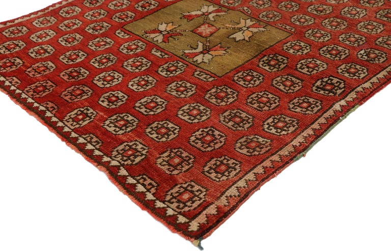 Oushak Antique Russian Karabagh Square Rug with Traditional Modern Style For Sale