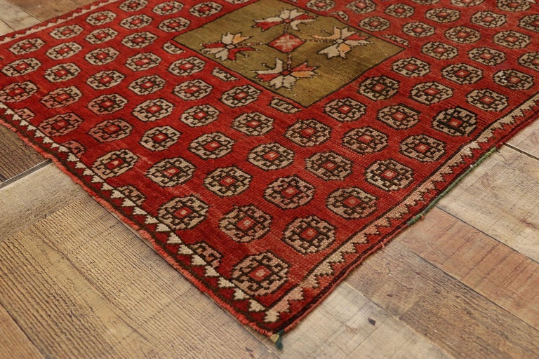 Wool Antique Russian Karabagh Square Rug with Traditional Modern Style For Sale