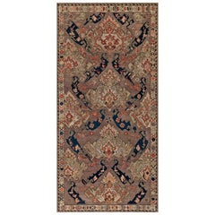 Antique Russian Kilim Carpet
