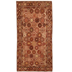 Antique Russian Rug Shirvan Style with Intricate Geometric Patterns, circa 1900s