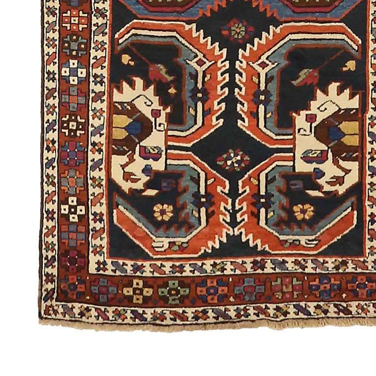 Other Antique Russian Runner Rug Karebagh Design For Sale