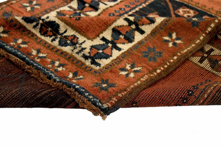 Antique Russian Runner Rug Kazak Design In Excellent Condition For Sale In Dallas, TX