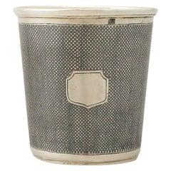 Antique Russian Silver and Niello Enamel Beaker