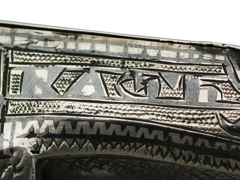 1855 Antique Russian Silver 'Shoe' Vesta Case For Sale 3