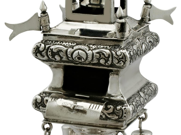 Antique Russian Silver Spice Tower For Sale 1