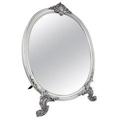 Antique Russian Silver Table Mirror