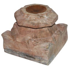 Antique Rustic Anglo-Indian Candleholder