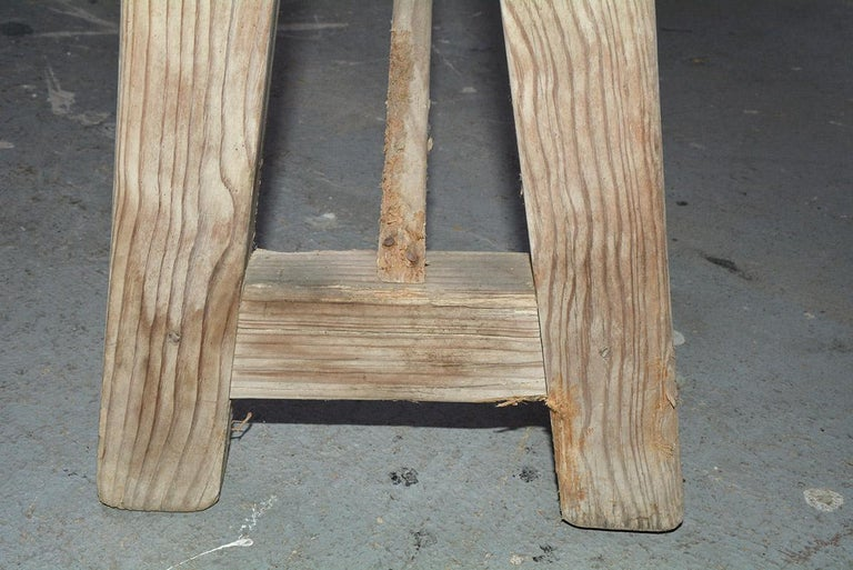 Hand-Crafted Antique Rustic Country Bench For Sale