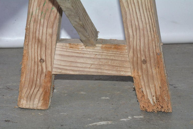 19th Century Antique Rustic Country Bench For Sale