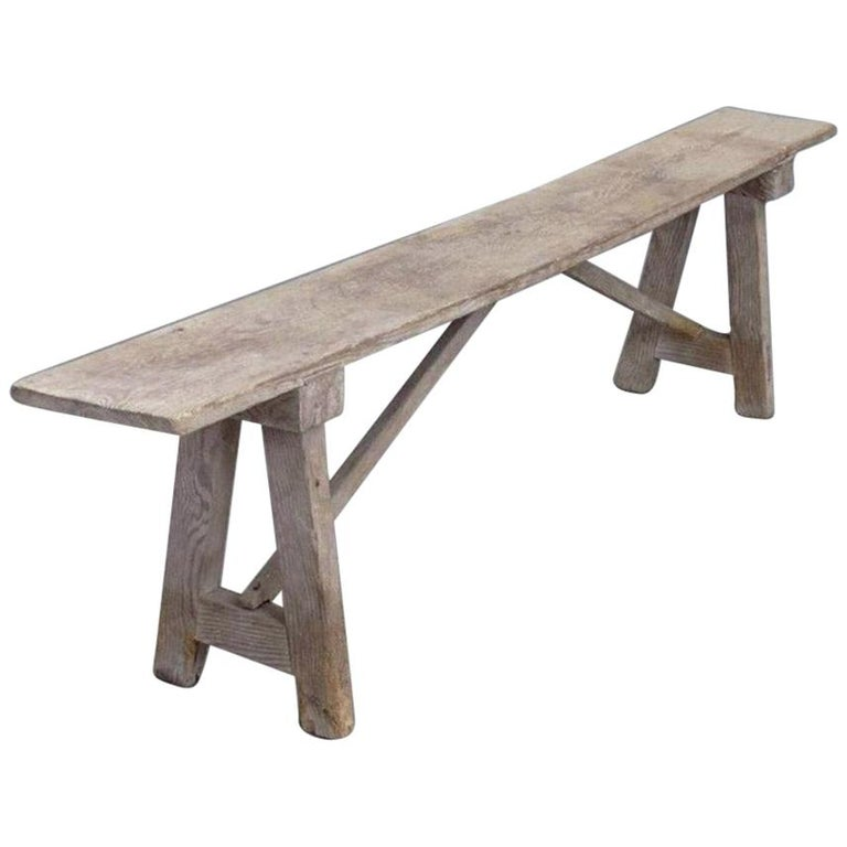 Antique Rustic Country Bench For Sale