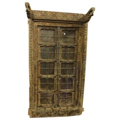19th Century Hand Carved Teak Wood Doors For Sale At 1stdibs