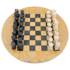 Antique Rustic French Stone Chess, circa 1940