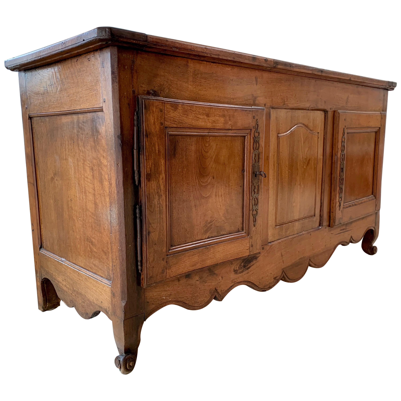 Antique Rustic French Walnut  Buffet