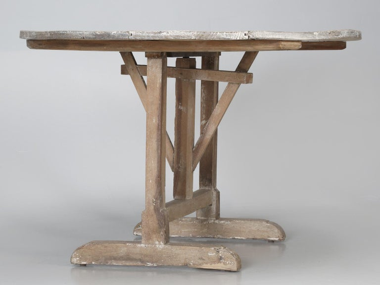 Antique Rustic French Wine Tasting Tilt-Top Table For Sale 7
