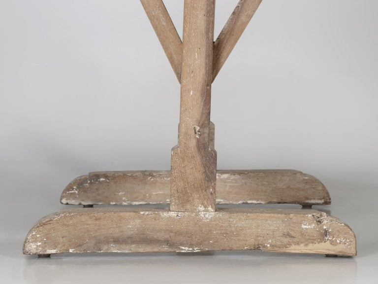 Antique Rustic French Wine Tasting Tilt-Top Table For Sale 8