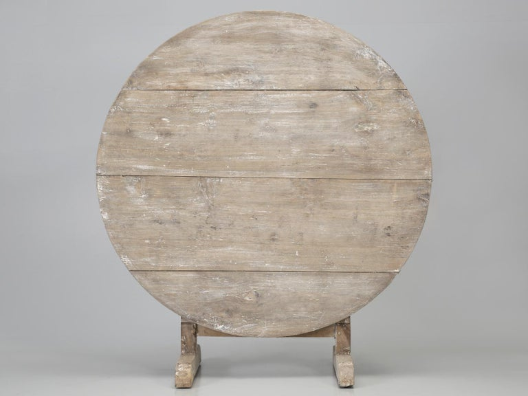 Antique Rustic French Wine Tasting Tilt-Top Table For Sale 10