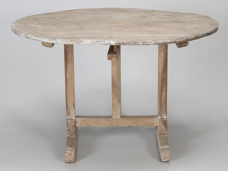 Antique Rustic French Wine Tasting Tilt-Top Table For Sale 1