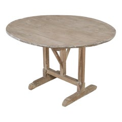 Antique Rustic French Wine Tasting Tilt-Top Table